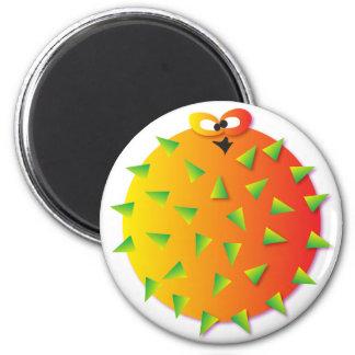 Secret blowfish 2 inch round magnet