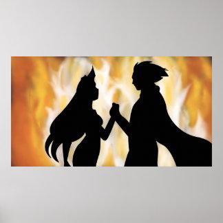 Secret Burning Love   TAOFEWA Manga   Fire Shadows Poster