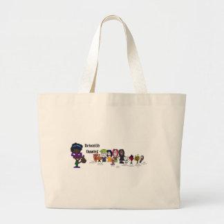 Secret City Characters2 copy.jpg Large Tote Bag