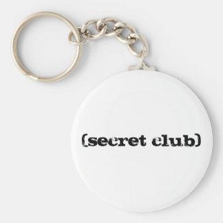 Secret Club Basic Round Button Keychain