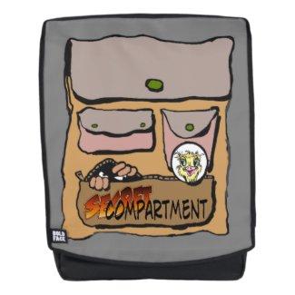 Secret Compartment Cartoon Adult Backpack