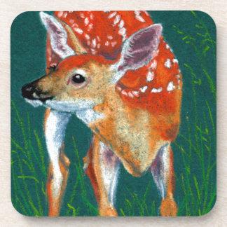 Secret Deer Fawn Wildlife Beverage Coaster