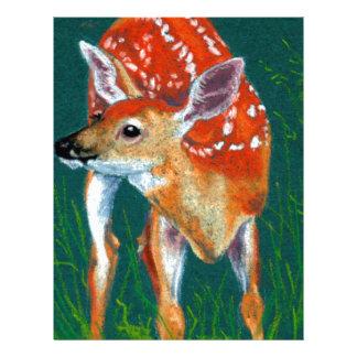 Secret Deer Fawn Wildlife Letterhead
