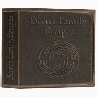 Secret Family Recipes 3 Ring Binder