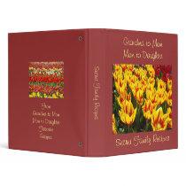Secret Family Recipes binder Grandma Mom Daugher