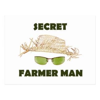 Secret Farmer Man Postcard