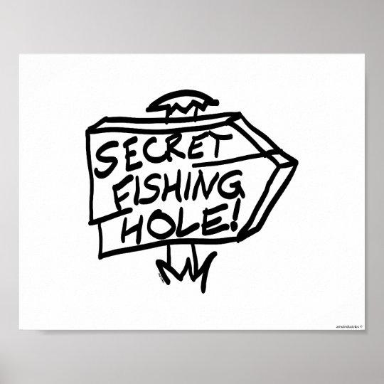 Secret Fishing Hole Sign