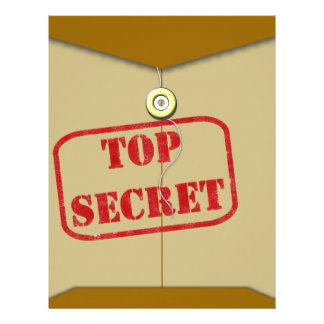Secret Folder for Secret Cooks Letterhead