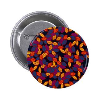 Secret Garden #7 floral design Button
