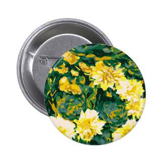 Secret Garden #8 yellow flowers Button