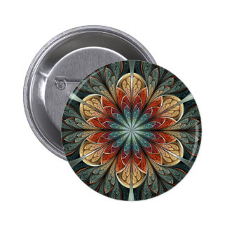 Secret Garden Abstract Fractal Art Button