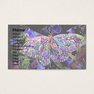 Secret Garden Butterfly Business Card