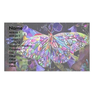 Secret Garden Butterfly Double-Sided Standard Business Cards (Pack Of 100)