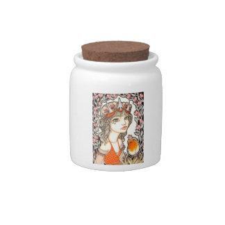Secret Garden Candy Jar