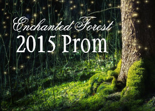 d30c514c584 Secret Garden + Enchanted Forest Prom Invitations