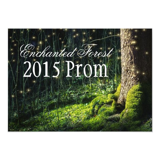 527c3de6bd3 Secret Garden + Enchanted Forest Prom Invitations