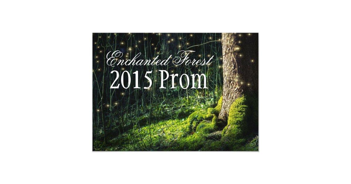 Secret Garden Enchanted Forest Prom Invitations Zazzle Com
