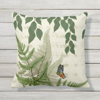Secret Garden Garden Vignette Outdoor Pillow 16x16