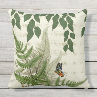 Secret Garden Garden Vignette Outdoor Pillow 20x20