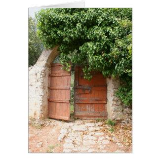 Secret Garden Gate Card