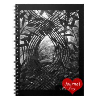 Secret Garden Iron Gate (Notebook) Spiral Notebook