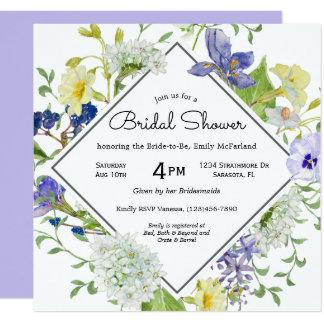 Secret Garden Rustic Wildflowers Bridal Shower Card