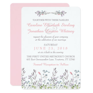 Secret Garden Watercolor Floral Invitation