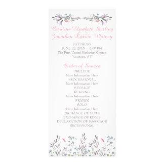 Secret Garden Watercolor Floral Program Cards