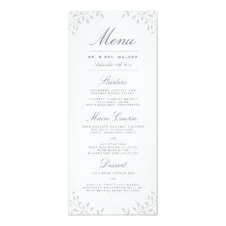 Secret Garden Wedding Dinner Menu - Grey Card