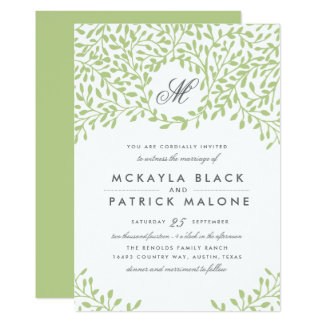 Secret Garden Wedding Invite
