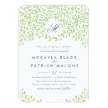 "Secret Garden Wedding Invite - Green 5"" X 7"" Invitation Card"