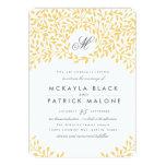 "Secret Garden Wedding Invite - Mustard 5"" X 7"" Invitation Card"