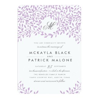 Secret Garden Wedding Invite - Orchid