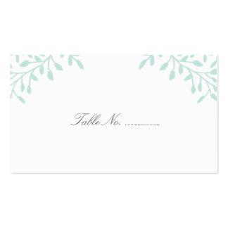 Secret Garden Wedding Place Cards 100 pk - Mint Business Card