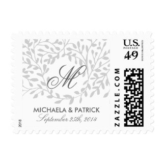 Secret Garden Wedding Postage - Grey