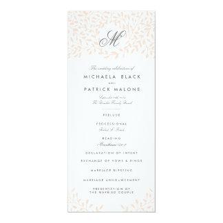 Secret Garden Wedding Programs - Blush 4x9.25 Paper Invitation Card
