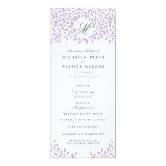 Secret Garden Wedding Programs - Orchid