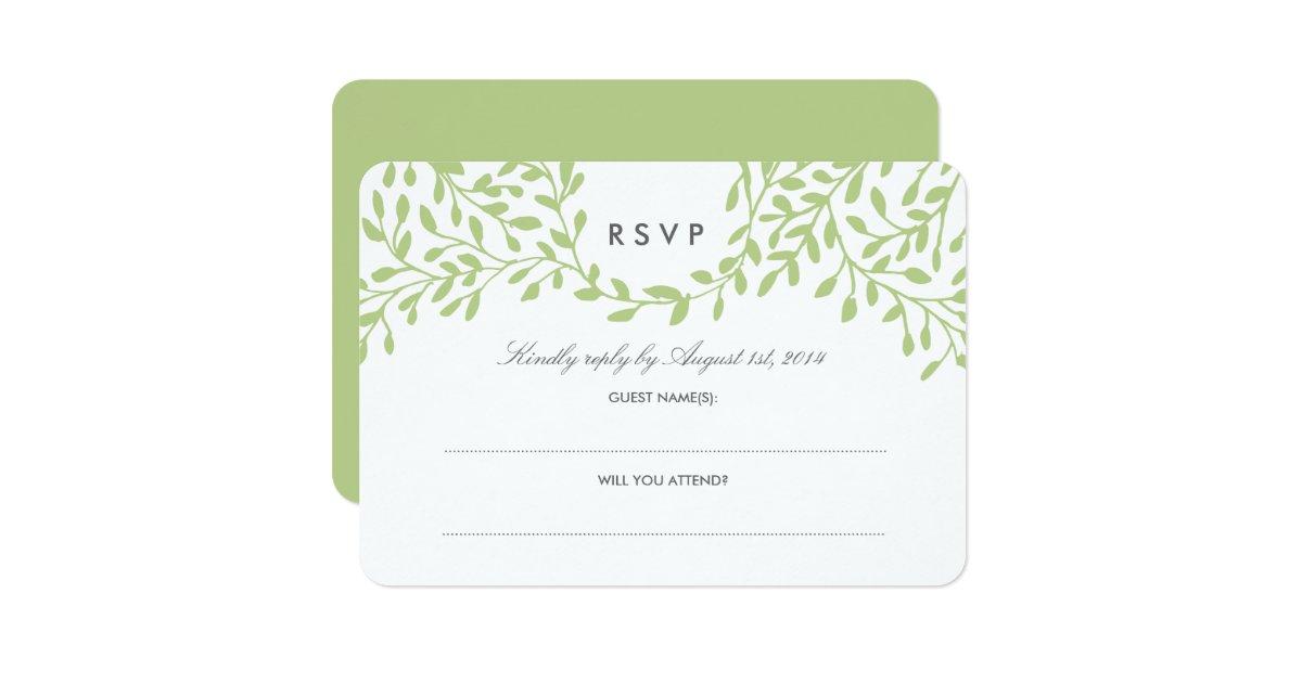 Secret Garden Wedding RSVP