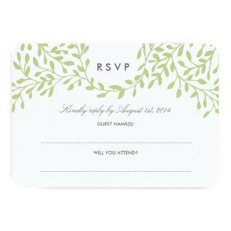 Secret Garden Wedding RSVP - Green Card