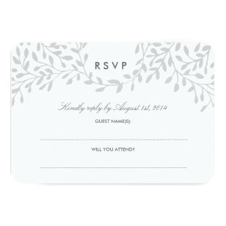 Secret Garden Wedding RSVP - Grey Card