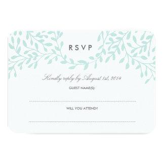 Secret Garden Wedding RSVP - Mint Card