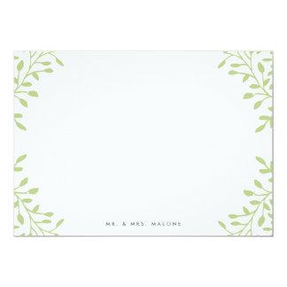 Secret Garden Wedding Stationery - Apple Card