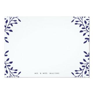 Secret Garden Wedding Stationery - Navy Card