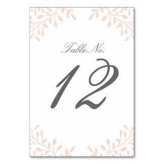 Secret Garden Wedding Table Number - Blush Card
