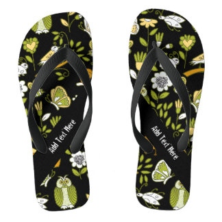 Secret Garden Wildlife Flip Flops