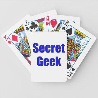 Secret Geek Bicycle Poker Cards