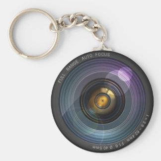 Secret hidden camera lens illusion basic round button keychain
