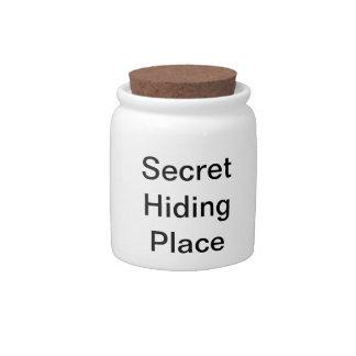 Secret Hiding Place Candy Jars