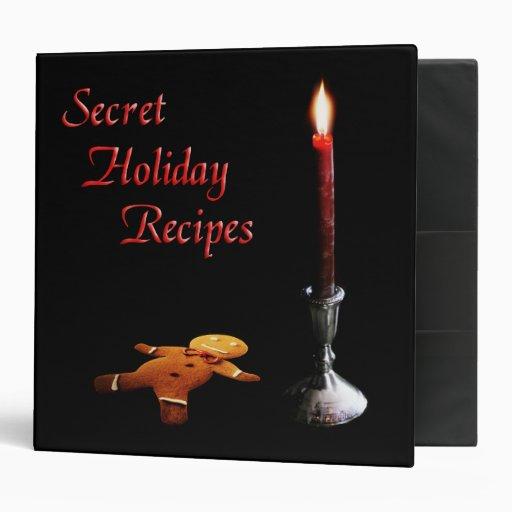 Secret Holiday Recipes Binder
