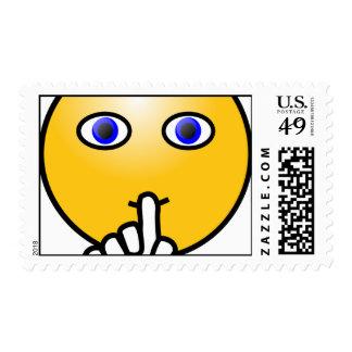 Secret hush emoticon surprise party stamps